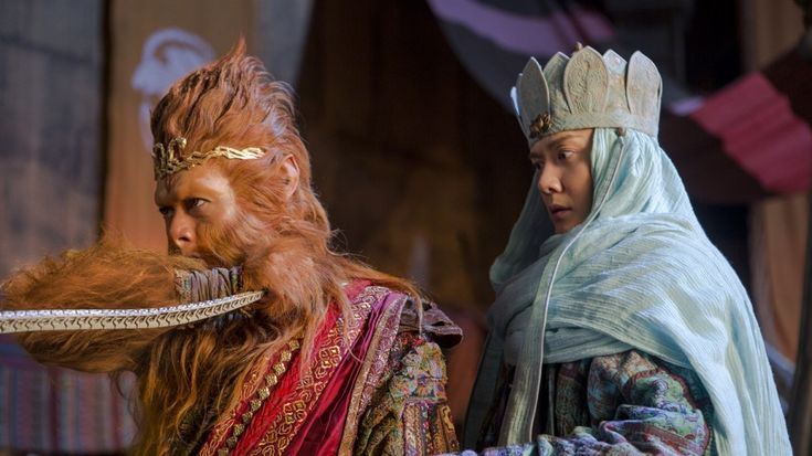 Aaron Kwok (left) and William Feng play the Monkey King and his master in The Monkey King 2 (Category IIA; Cantonese). Directed by Soi Cheang, the film also stars Gong Li.