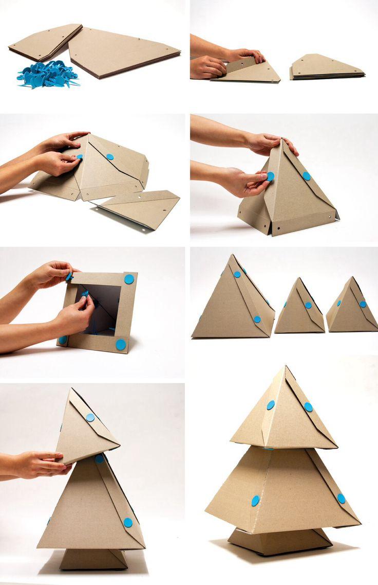 Xmas tree of cardboard