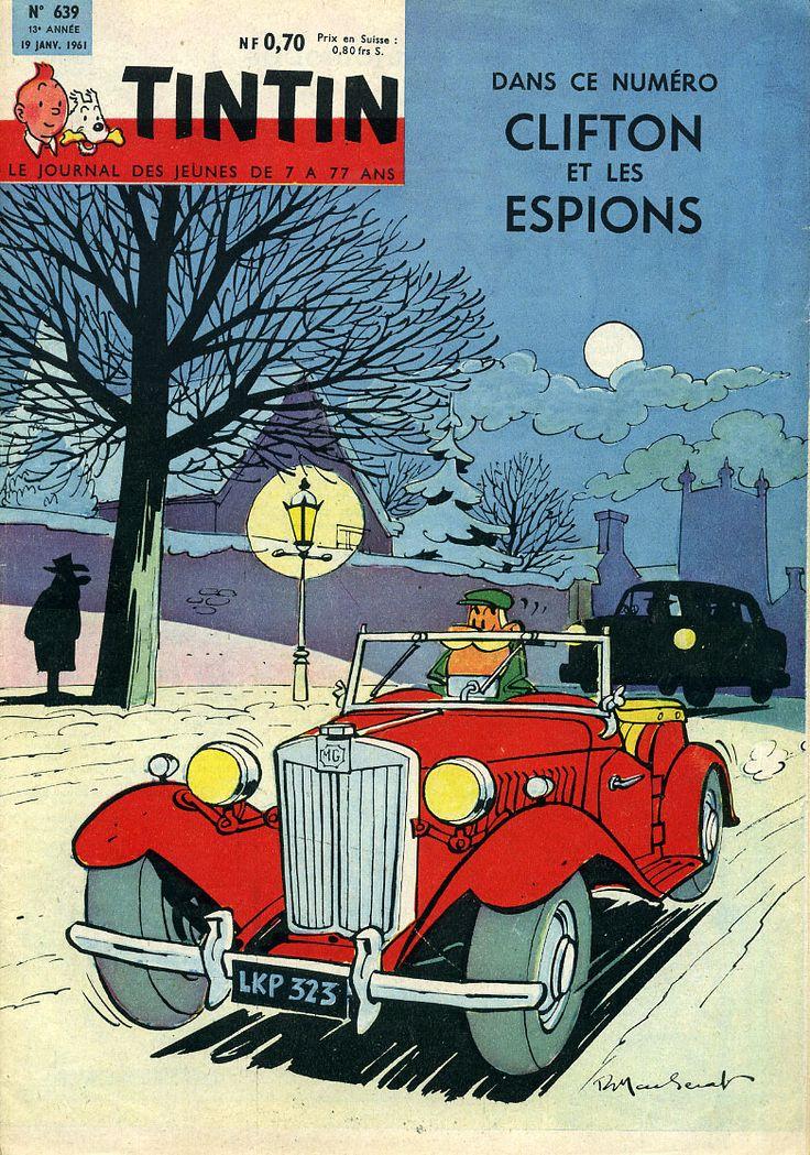 CLIFTON de Raymond Macherot en couverture de Tintin - 1961