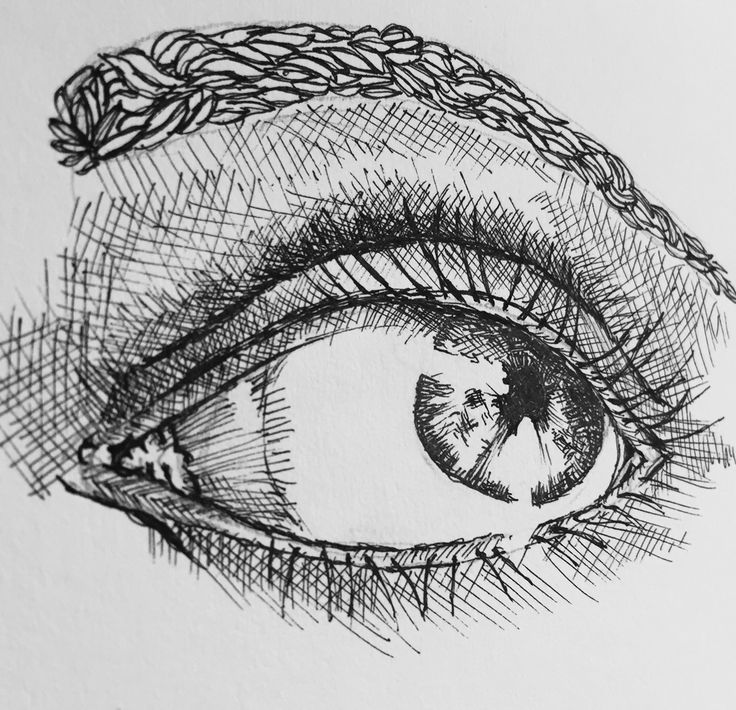 Tried the cross hatched eye... Needs more work
