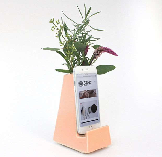 The Bloom Vase (vase-turned-charging port) from Stak Ceramics.