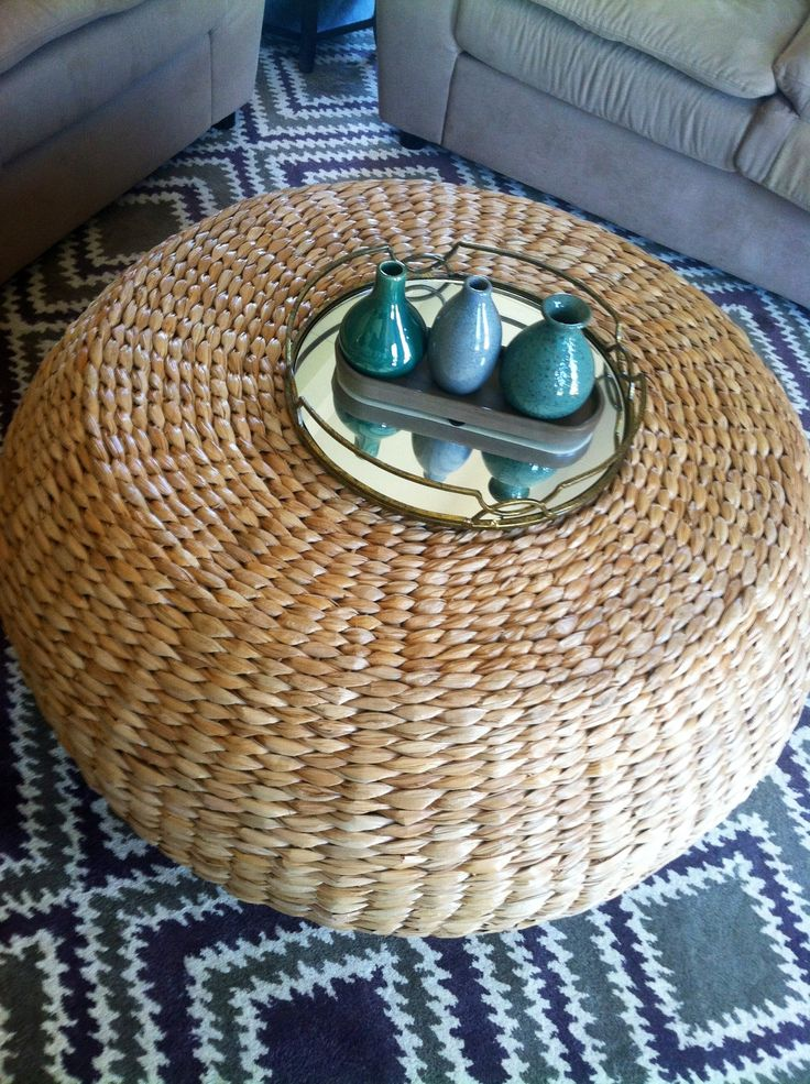 Pottery barn wicker ottoman! Great price and great size. Visit jhillinteriordesigns.com for more photos.