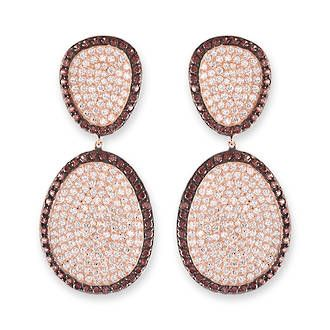 Buy Rose Gold And Chocolate Pave Pebble Earrings at competitive prices from Fishers on Cameron