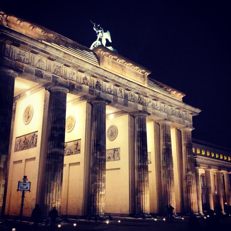 Brandenburg Gate. Berlin, Germany. December 2012