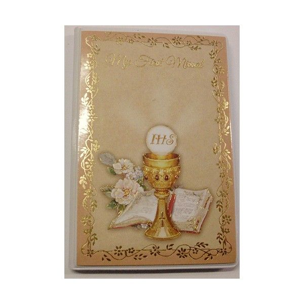 My First Missal - Pocket Size - This pretty little pocket size Missal has #prayers and instructions for any child making their 1st Holy #Communion - My First #Missal is a great little gift for any boy or girl on their Communion Day