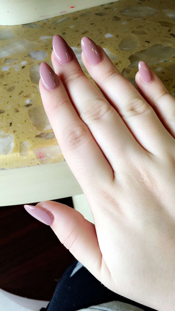 OPI Tickle My France-y almond shaped nails.