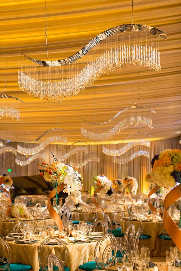 San Francisco Symphony Opening Night Gala 2015 - Lighting Design by Got Light, Event Design by Blueprint Studios. Gold Amber Drape Event Lighting Inspiration.