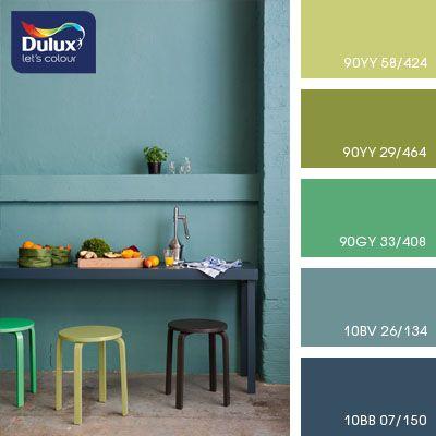 green-blue and green shades