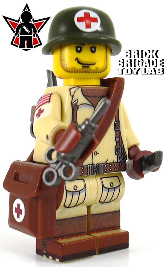 Custom Lego Military Soldier Minifigure Model Soldiers US Medic - Brick Brigade LLC