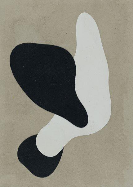 Jean Arp - Image Abstraction and Distorition Ik vind deze afbeelding wel leuk door het contrast tussen het zwart en wit, alleen is de lelijke kleur die voor de achtergrond is gekozen zeker minder.