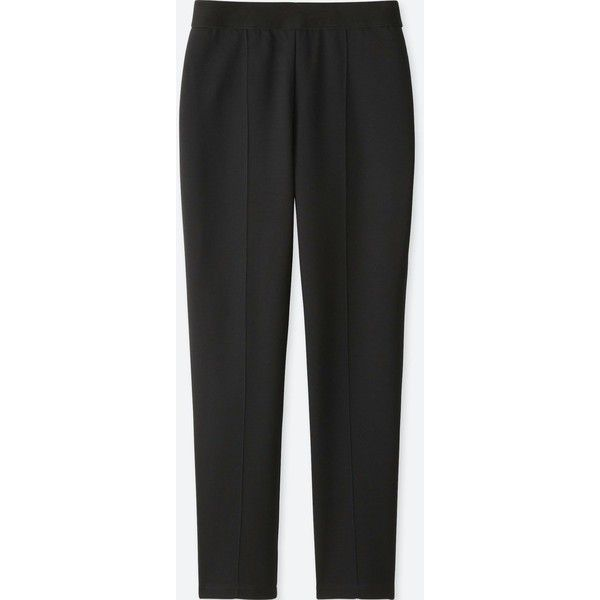 UNIQLO Women's Ponte Slim Pants ($20) ❤ liked on Polyvore featuring pants, black, slim fit dress pants, slim fit suit pants, slim pants, suit pants and slim suit pants