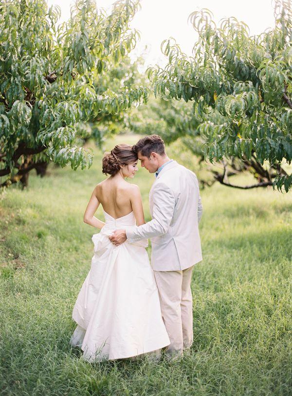 #orchard #wedding  Southern Weddings V7: A Bushel and a Peck - Southern Weddings Magazine
