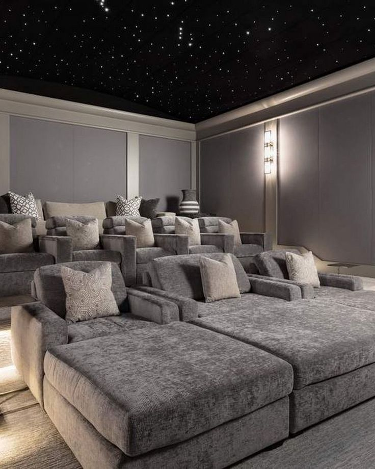 20+ Home Theater Ideas to Make a Cozy Heaven in Your Basement
