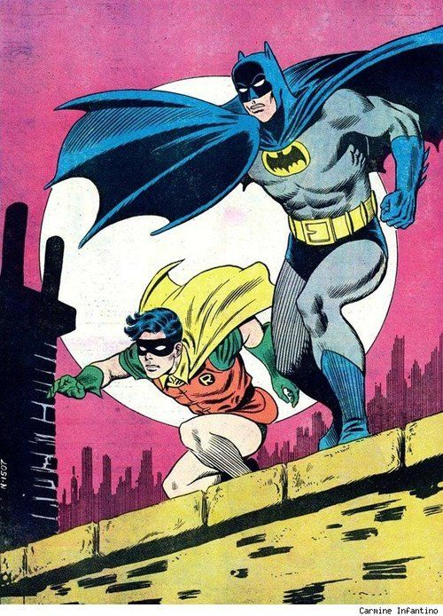 westcoastavengers: Batman and Robin by Carmine Infantino                                                                                                                                                                                 More