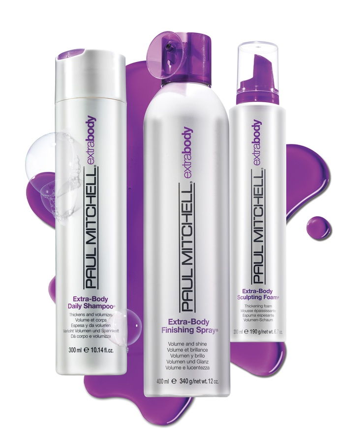 Paul Mitchell Extra-Body    Step out with style that's larger than life. Go for big, bold body and volume with Paul Mitchell® Extra-Body.
