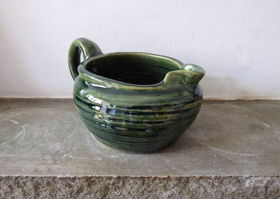 Made to Order:  Stoneware Gravy Boat in Emerald Green - Handthrown - Pottery - Rustic Decor - Dining - Pitcher - Jug