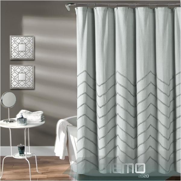 May 30 2020 Chenille Chevron Shower Curtain Lush Decor