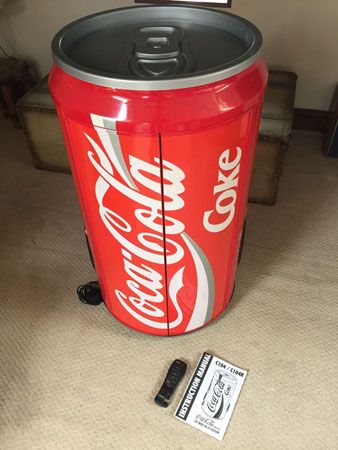 Giant Coca Cola can hi-fi system on eBay
