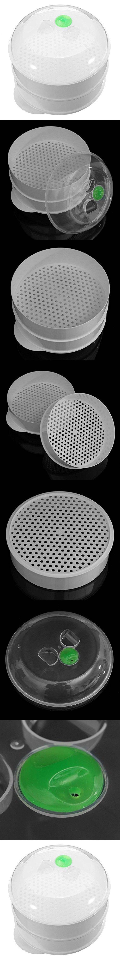Kingso 2 Tier Plastic Vegetable Microwave Steamer 709*591 Inch