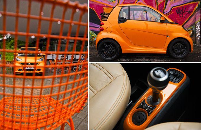 #car SMART FORTWO CABRIO BRABUS NIGHTORANGE / photo: Mateusz Tyszkiewicz / rostyleandlife.com
