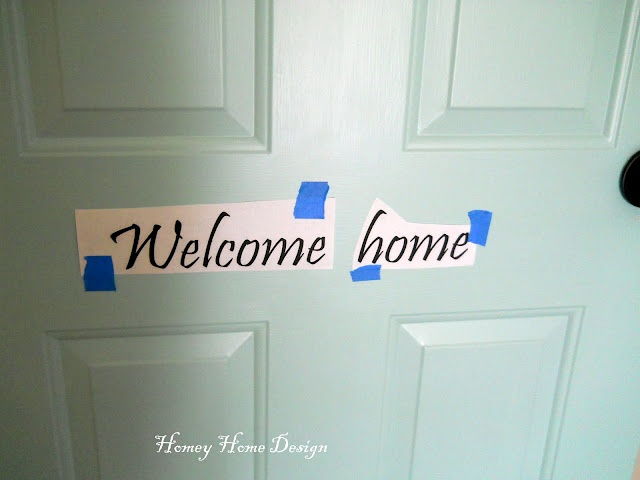 How to paint words on the door.. I need this.