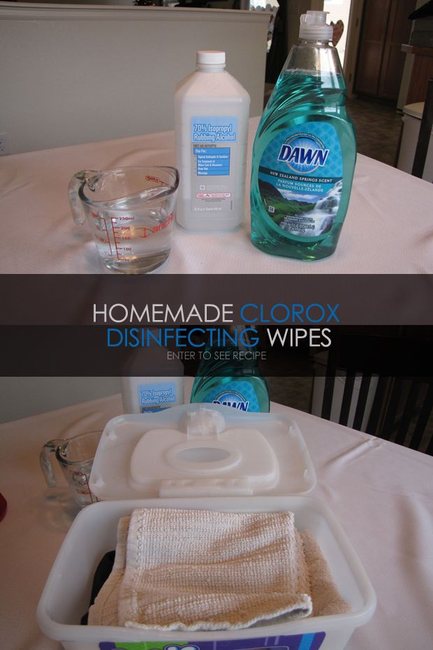 If you love Clorox Disinfecting Wipes, these Homemade Clorox Wipes are a handy, inexpensive alternative to quickly disinfect that works just as well. Materials : 1 cup of water, 1/4 cup of rubbing alcohol, 2 Tbsp. Dawn dish soap (only use Dawn), 2 Tbsp. ammonia (optional) Use 24 rags – cut into squares. I cut…