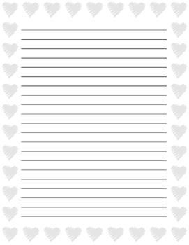 "Valentine""s Day Writing Paper 