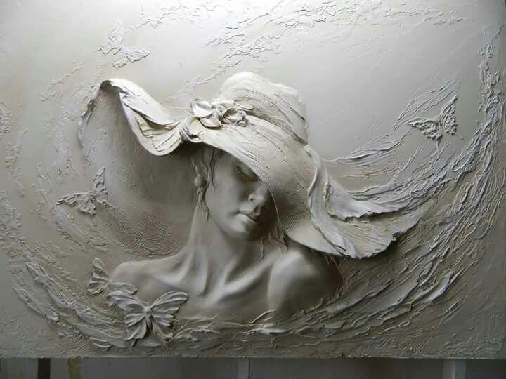 Art In Plaster Yeni Sanat Tablolar Soyut Heykel