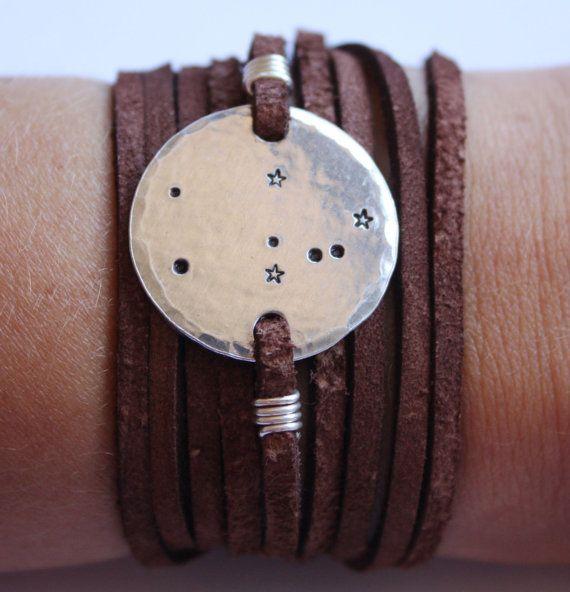 Constellation bracelet, taurus zodiac bracelet, wrap bracelet, aries, cancer, capricorn, scorpio, aquarius, sagittarius, pisces, stars