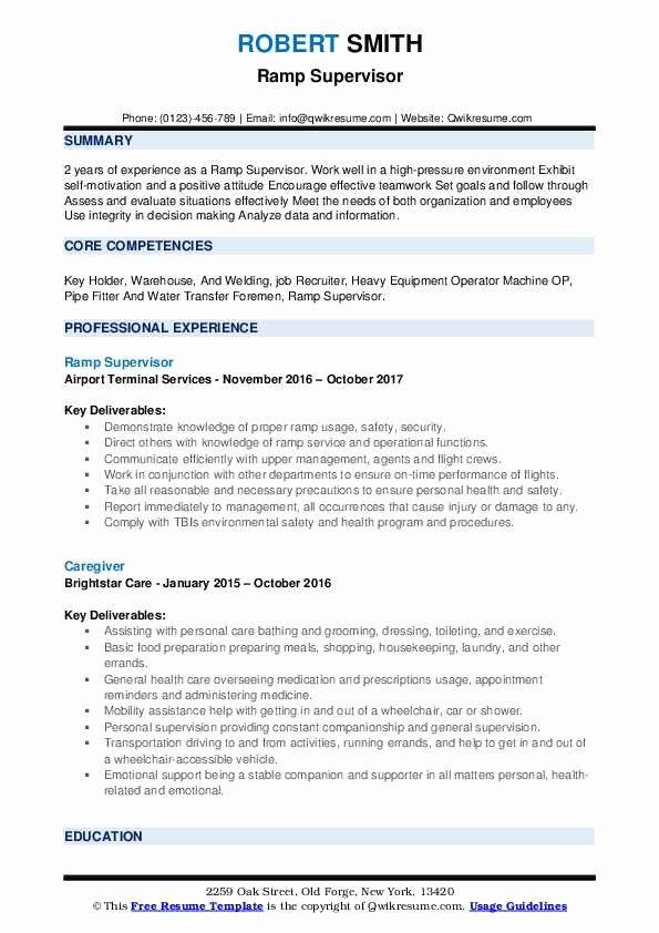 Ramp Agent Job Description Resume Fresh Ramp Supervisor Resume Samples Nurse Job Description Key Holder Job Job Description