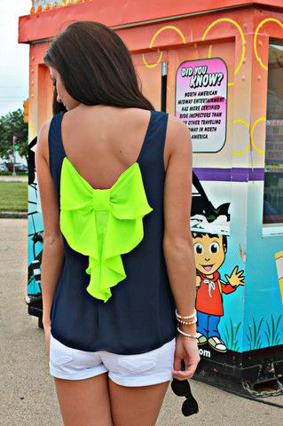 Go Bow-dly Tank. This could easily be made yourself. So cute.