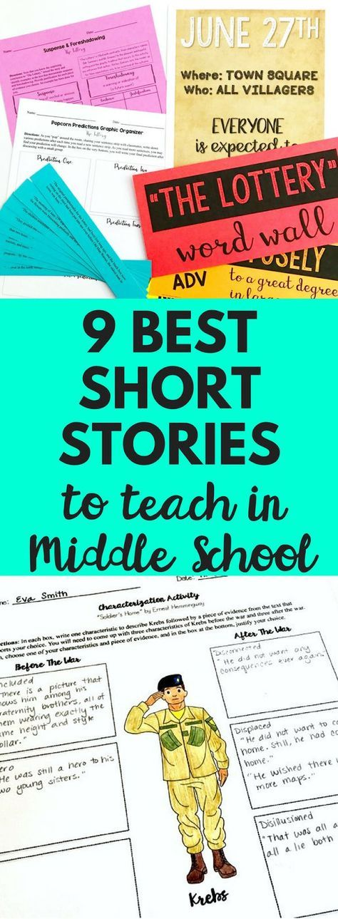 Top nine short stories to teach to and read with your middle school English language arts class! They are engaging, challenging, and accessible to all students! Definitely a must read blog post!