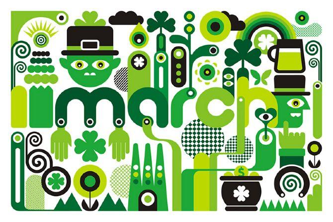 St Patrick's day artwork by Fernando Volken Togni