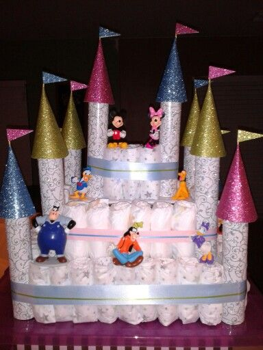 Disney diaper cake / card box. Second tier had a slot for cards(between Donald & Pluto)