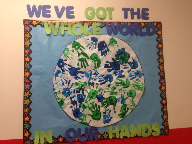 Around the world theme bulletin board