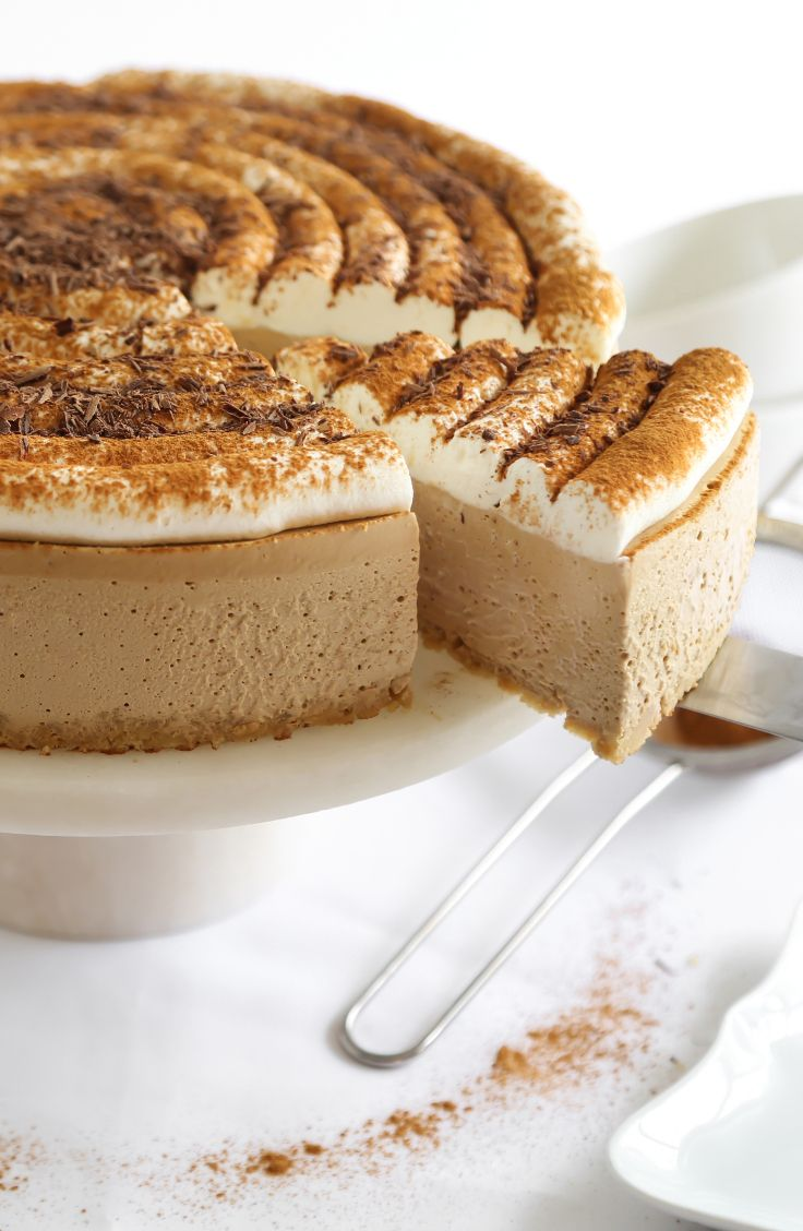 This coffeehouse-inspired cheesecake is light, creamy and not overly sweet. You…