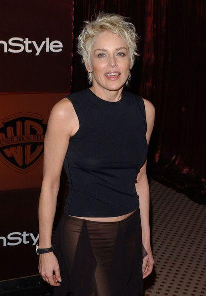 Sharon Stone Style Magazine Golden Globe Party