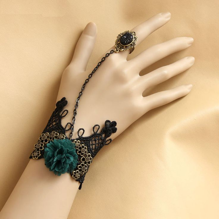 Bracelets with ring   ... Bracelet Ring Connected Chain Stage Jewelry Accessories WS-240