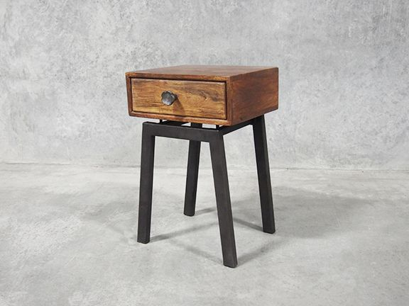 The Indie retro bedside table is a classy design with a hint of industrial chic.
