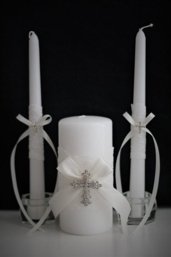 wedding candles church wedding unity candles off white white or ivory wedding candles lace unity candle set christian wedding