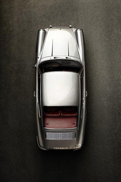 old-timer design silver car