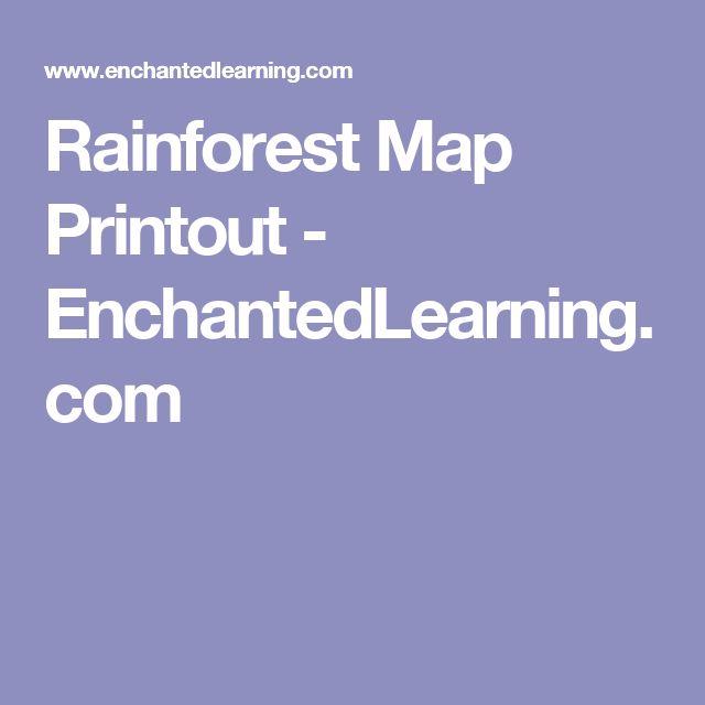 Rainforest Map Printout - EnchantedLearning.com