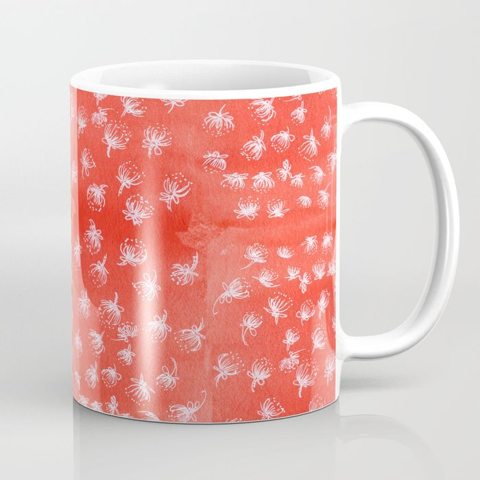 Buy Pohutukawa flakes-red Coffee Mug by emiliegeant. Worldwide shipping available at Society6.com. Just one of millions of high quality products available.