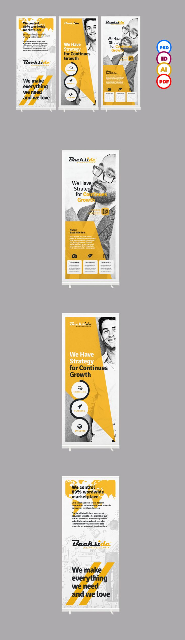 advertise, ai, banner signage, banner template, billboard, blue banner, business, business roll up, clean, corporate roll…