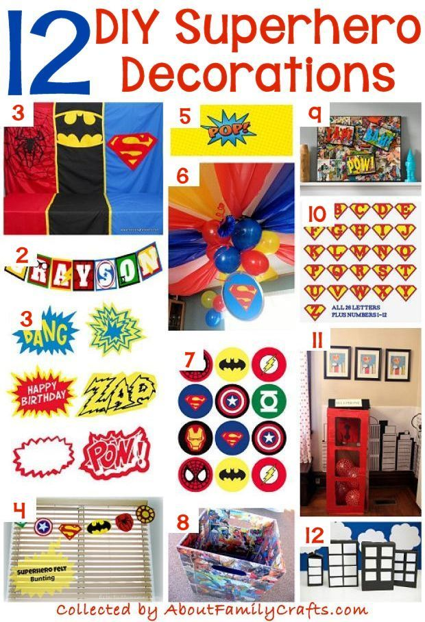 Best 25 superhero party decorations ideas on pinterest for Diy birthday party decorations for adults
