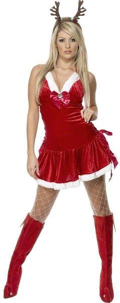 Naamiaisasu; Miss Tuhma Tyttö.  Miss Tuhma Tyttö saattaa olla se, jolle ei jouluaattona tule paketteja mutta haittaakos tuo, jos muutoin on hauskaa ympäri vuoden! Sisältää: - Mekon niskalenkillä ja kiristysnyöreillä sivuissa