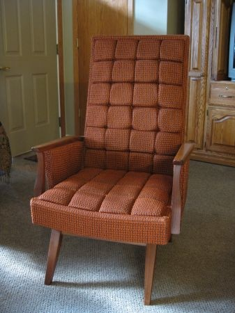 Minneapolis: Retro ~ Mid Century Modern Murphy Miller Chair ~ Orange $150    Http: