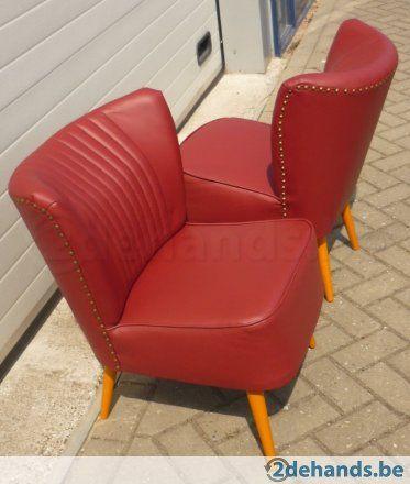 Cocktail zetels rood skai  ontworpen voor de expo 1958