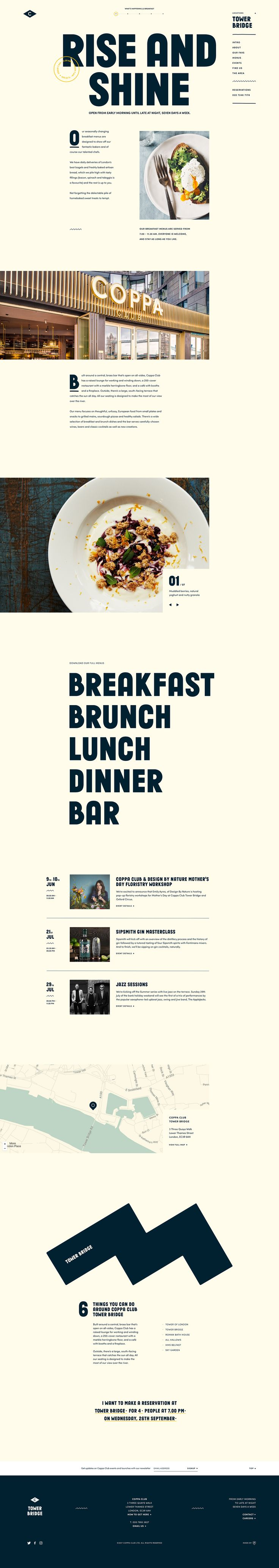 CC Location Breakfast — Ui design concept and visual identity by ToyFight©