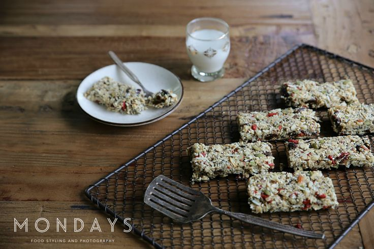 Raw Vegan Granola Bars.  For food styling and photography services, please email info@mondayswholefoods.com